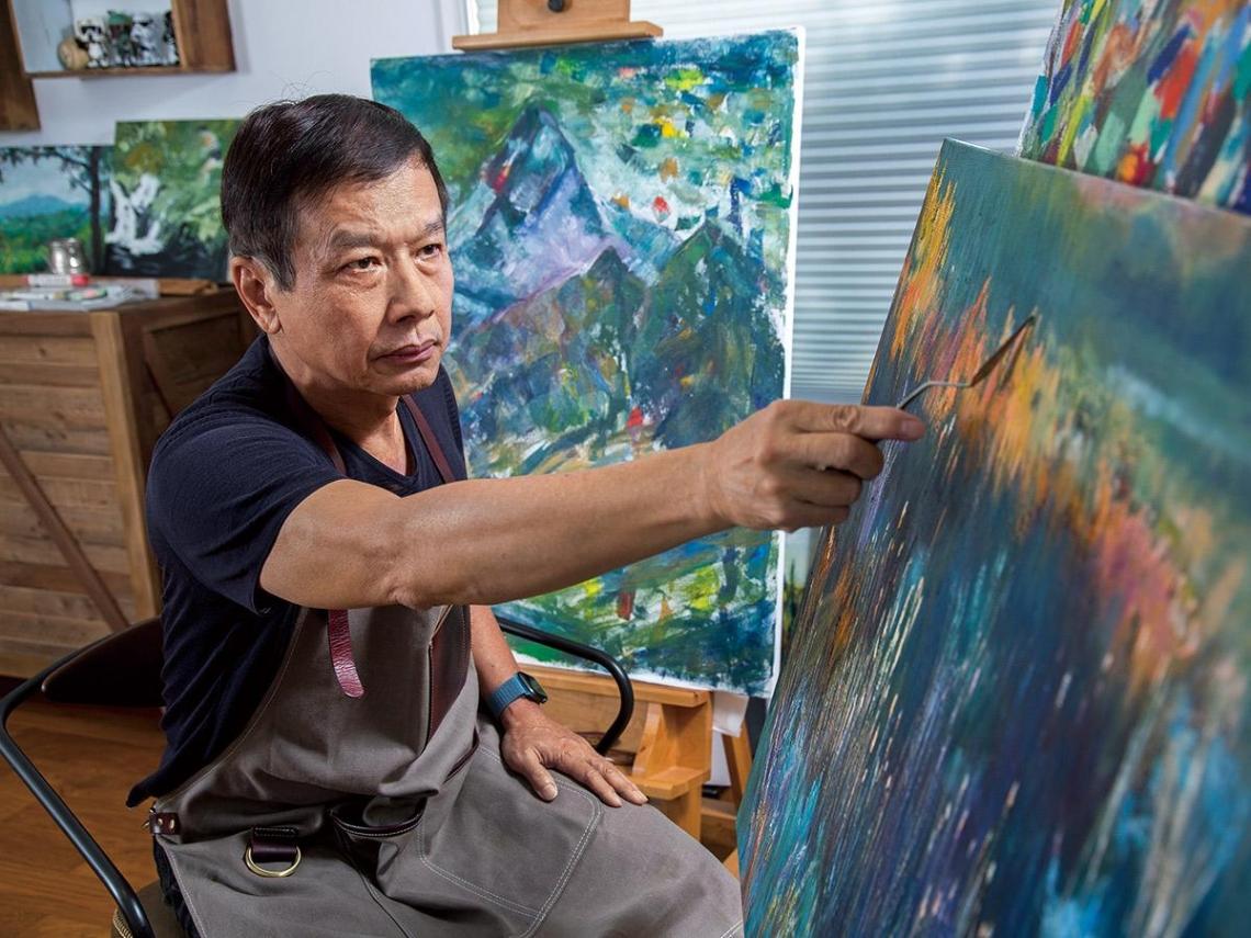 對油畫堅持  十多年不懈的寫意