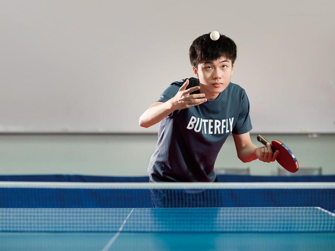 世界前六強  桌球王林昀儒 淡定看輸贏  做自己就好!