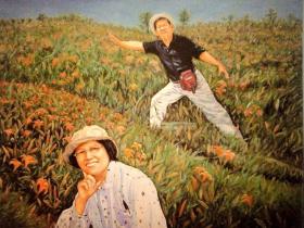 夫妻寫詩作畫「玩到有點忙」,關掉公司退休去!作品躍上日美術館:沒賺到金山也樂活