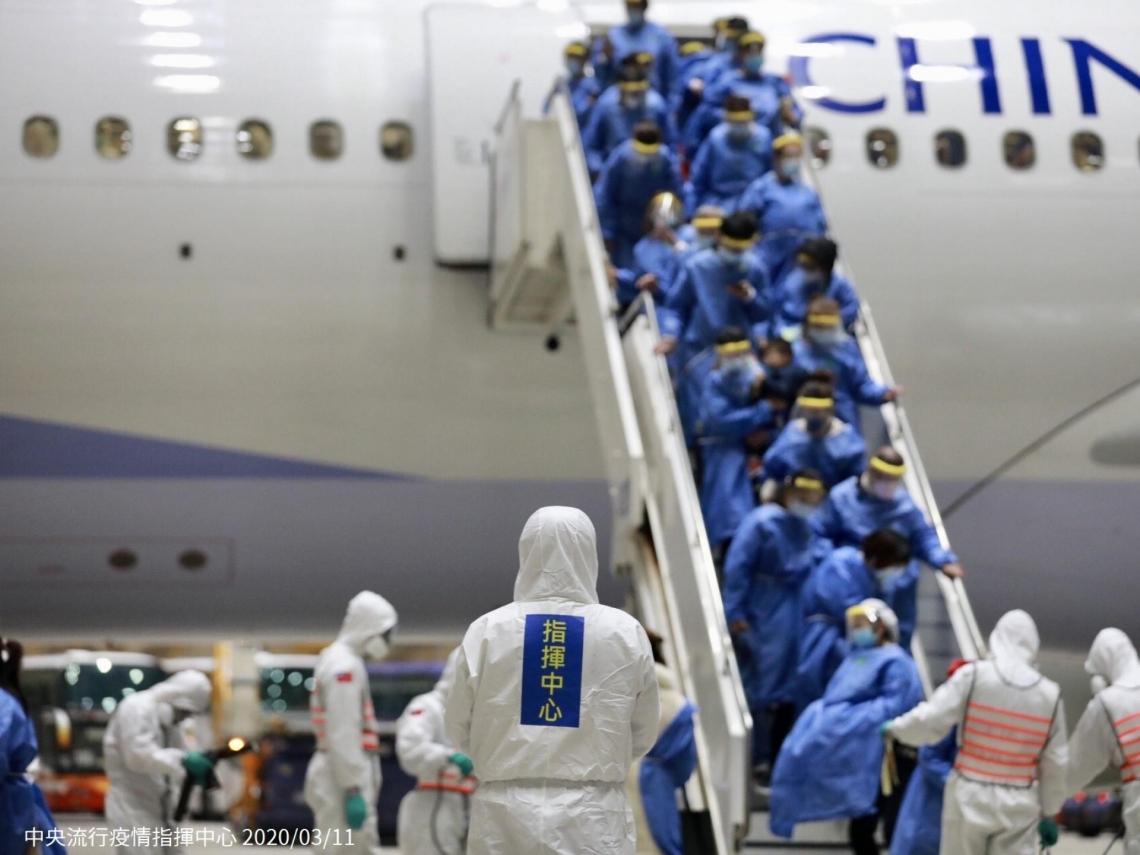 第2次武漢台商包機抵台,361人將隔離檢疫14天!6張圖看懂下機檢疫流程
