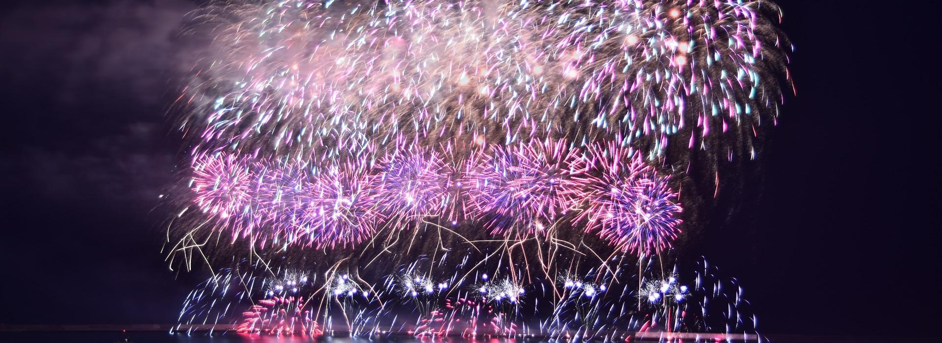 花蓮國慶2萬顆焰火點亮夜空   36分鐘美麗不停歇