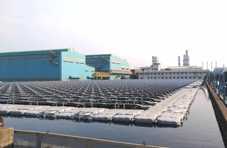 中鋼廠區水面型太陽能光電系統