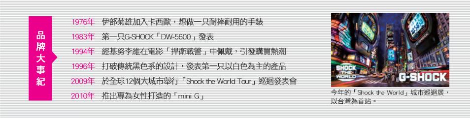 G-Shock品牌事紀