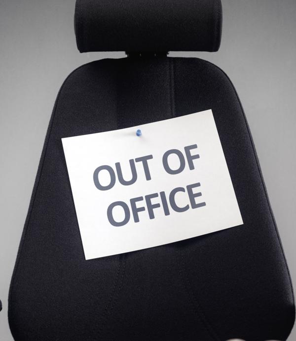休假之前,先寫好Out of office message