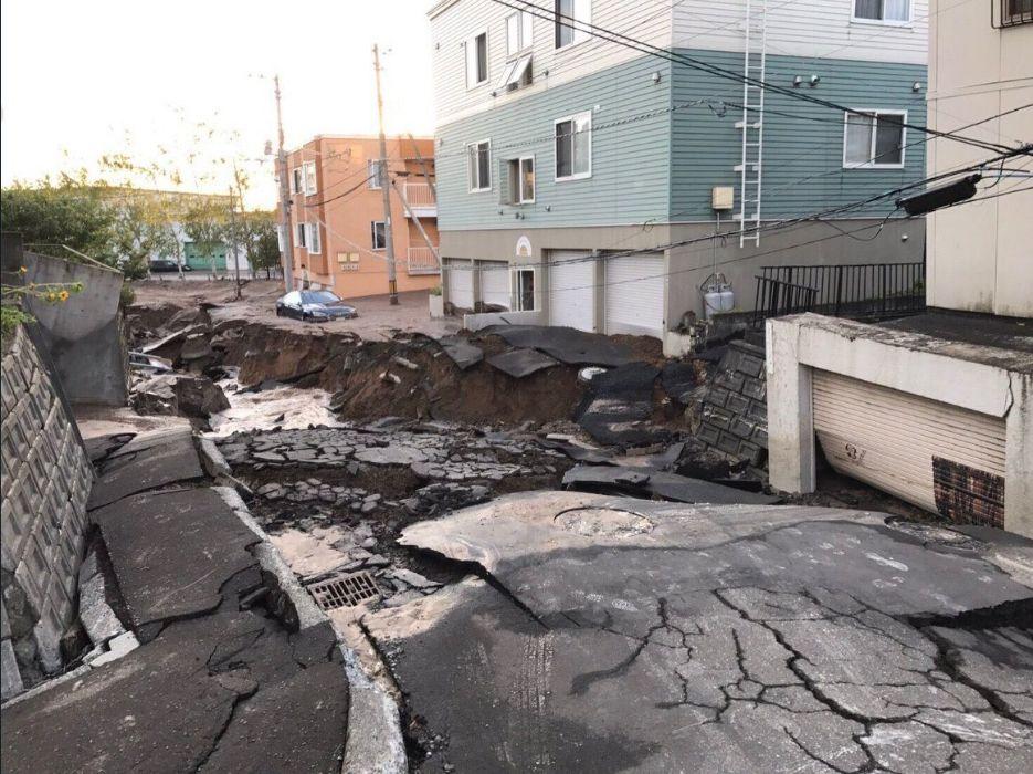 日本北海道6.7強震 近3百萬戶停電、札幌土壤液化