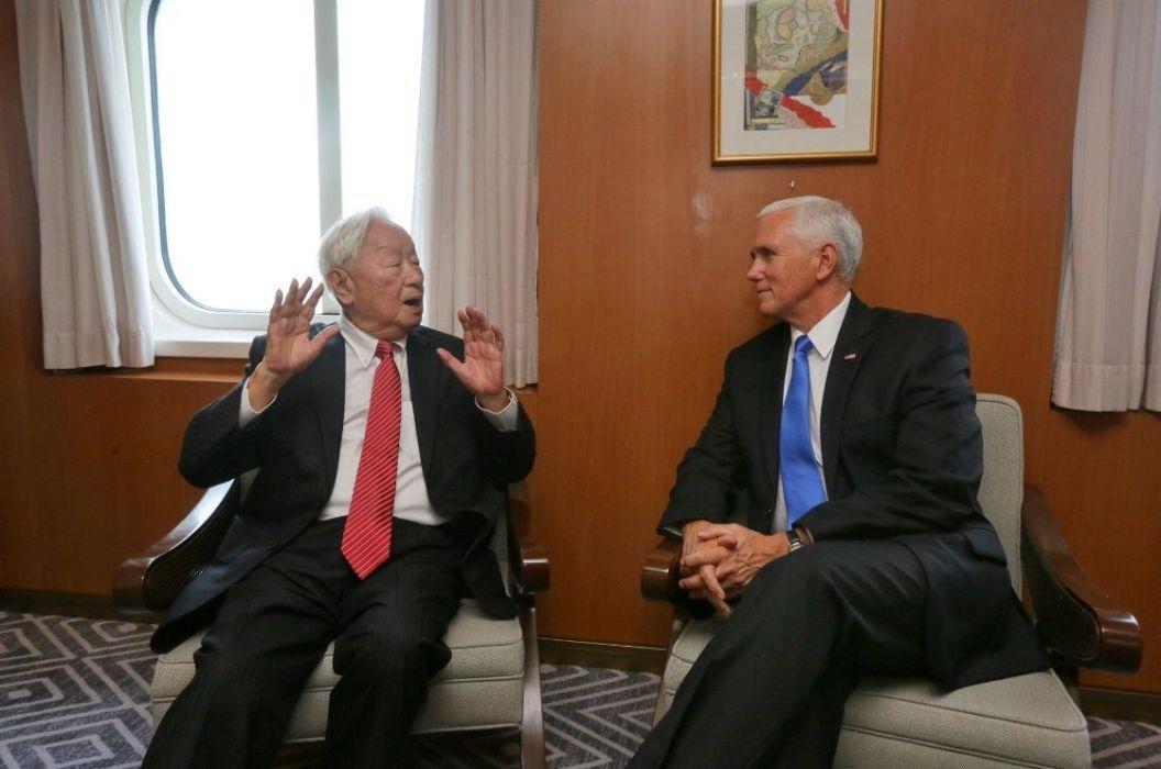 張忠謀出席APEC與彭斯會談 蔡英文:台灣走出去,一起拚外交
