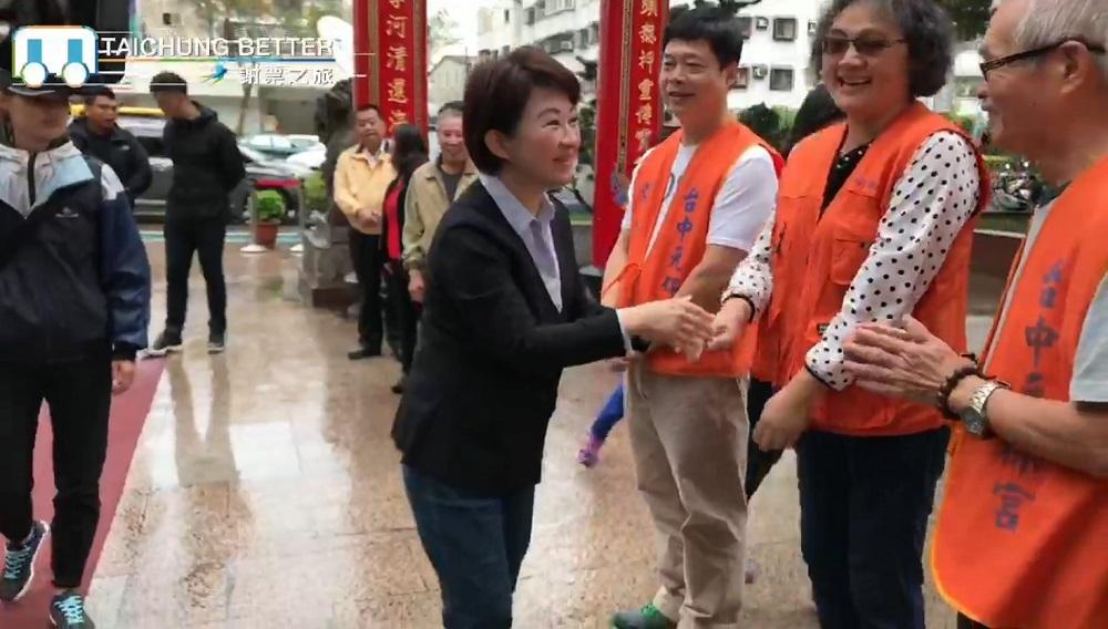 台中市長當選人盧秀燕,今持續進行謝票行程。