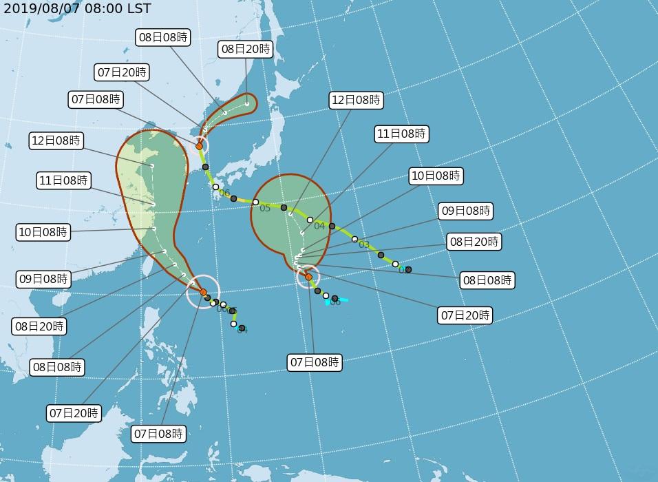 利奇馬颱最快11點30分發布海警 中南部恐也在暴風圈中