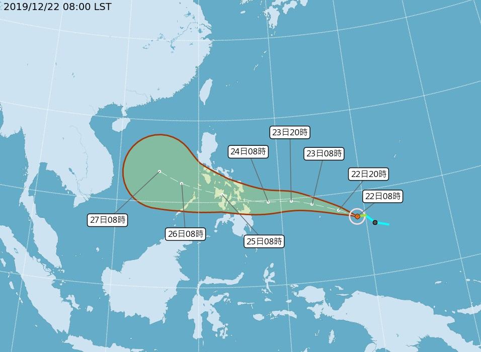 「巴逢」颱風今早生成 這兩天北台灣將轉濕涼
