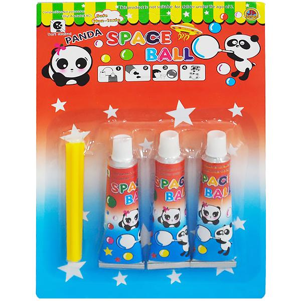 小時候的吹泡泡玩具,又稱「泡泡膠」或「太空氣球」。