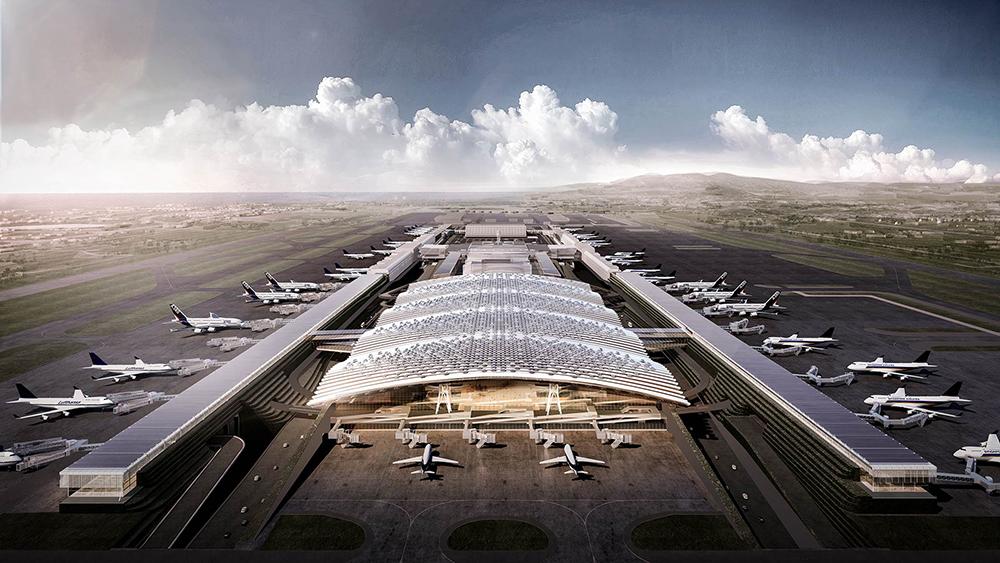第三航廈雲頂天花板就要17億 桃機請英國團隊修圖