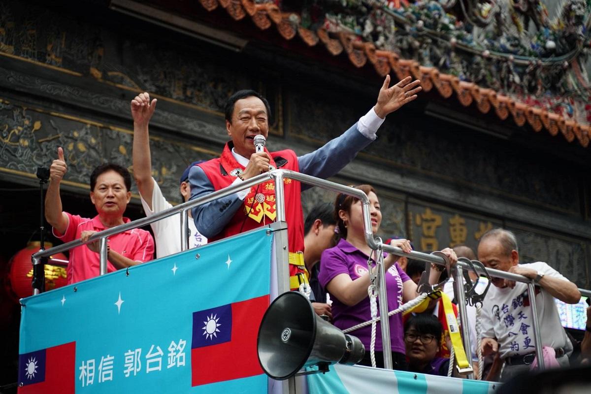 同日造勢拚場》好感度勝韓國瑜 郭台銘:我有在做事,喊「只有台灣贏,中華民國才會贏」