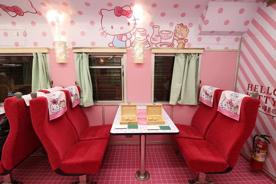 台鐵推出Hello Kitty環島之星列車搭乘優惠。圖/FUN台鐵臉書