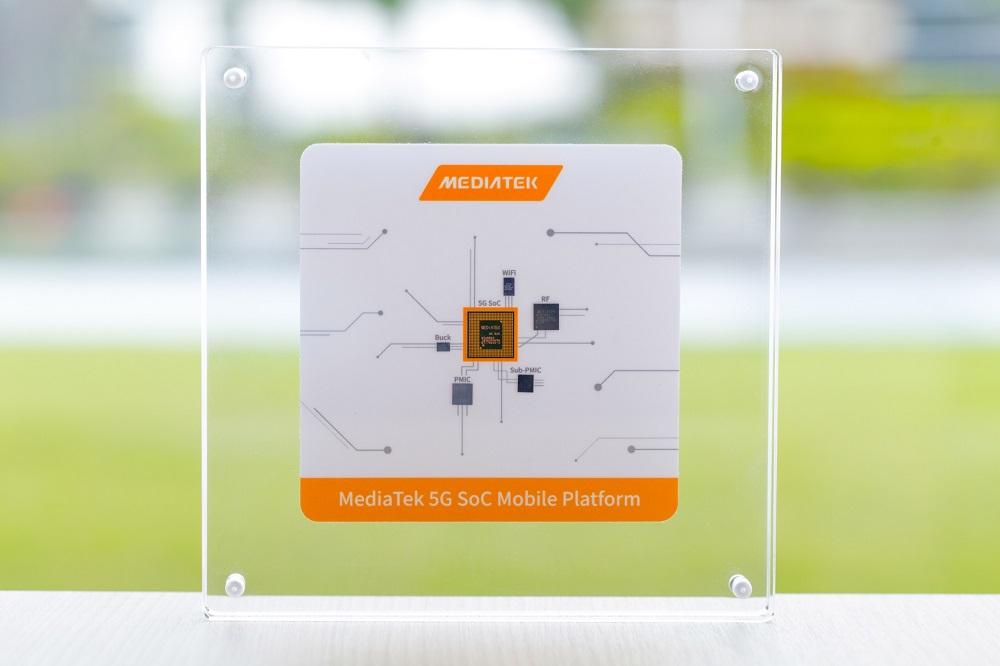 聯發科技5G系統單晶片首度亮相。