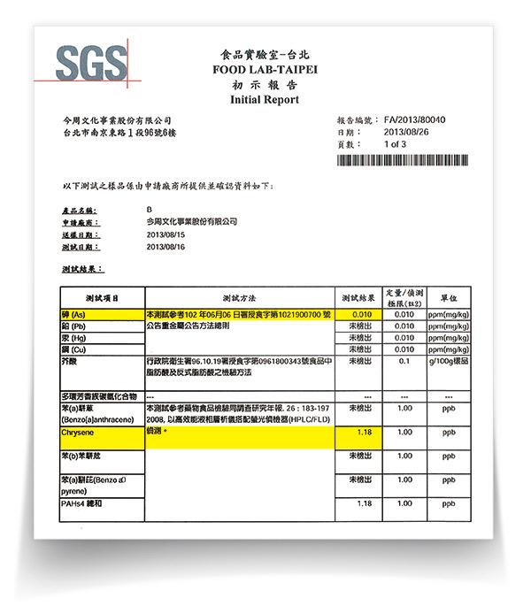 SGS檢驗油品