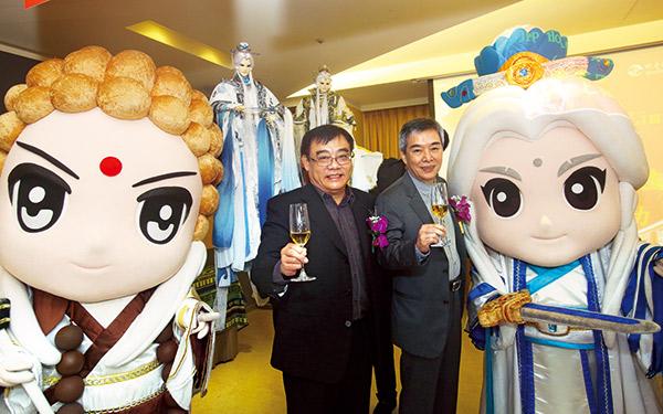 霹靂董座黃強華、副董黃文擇為傳統藝術開啟異業合作的授權商機