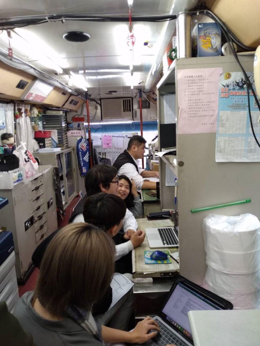 公車調度站對調度員進行訪談