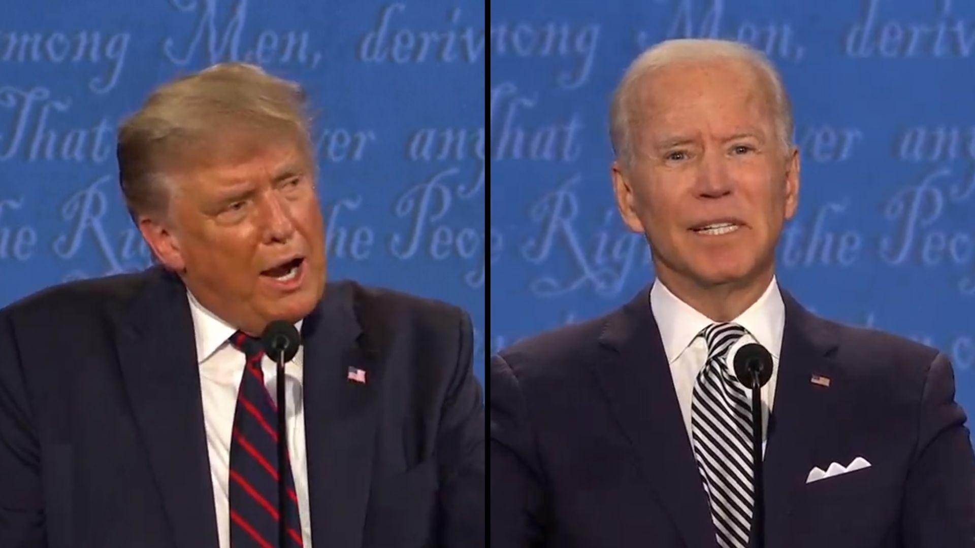川普狂插話、拜登嗆「你是美國史上最糟總統!」 美大選首次辯論5議題激烈交鋒!吵到主持人都「凍未條」