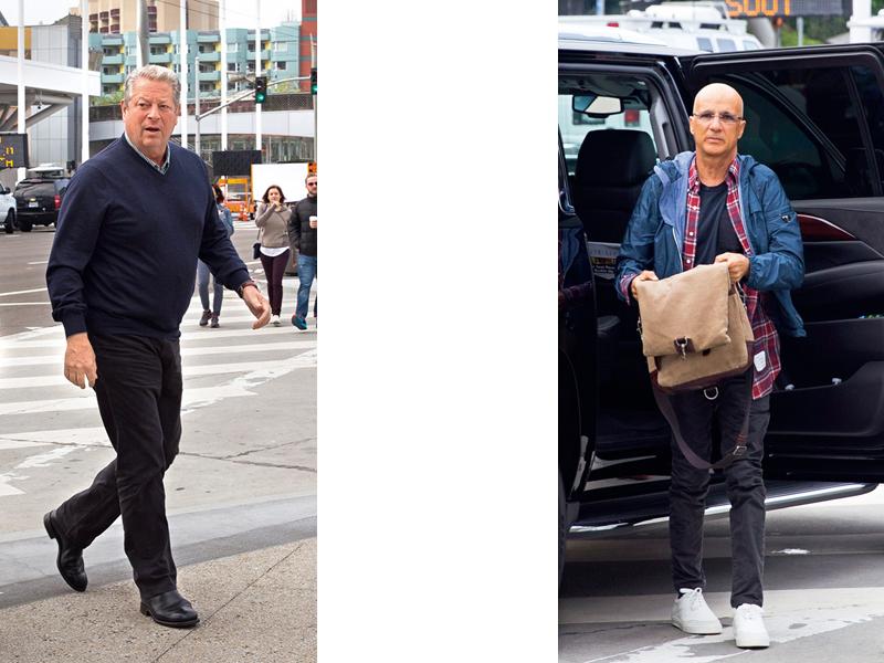 美國前副總統高爾和Beats耳機創辦人艾歐文出席蘋果發表會