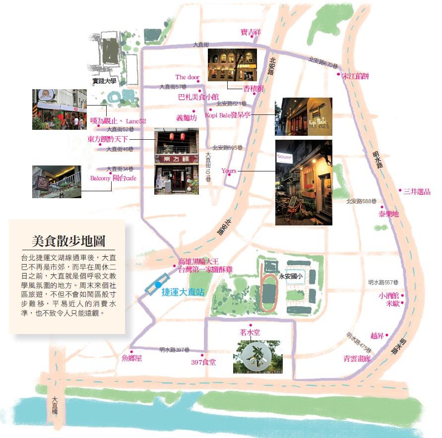 美食散步地圖