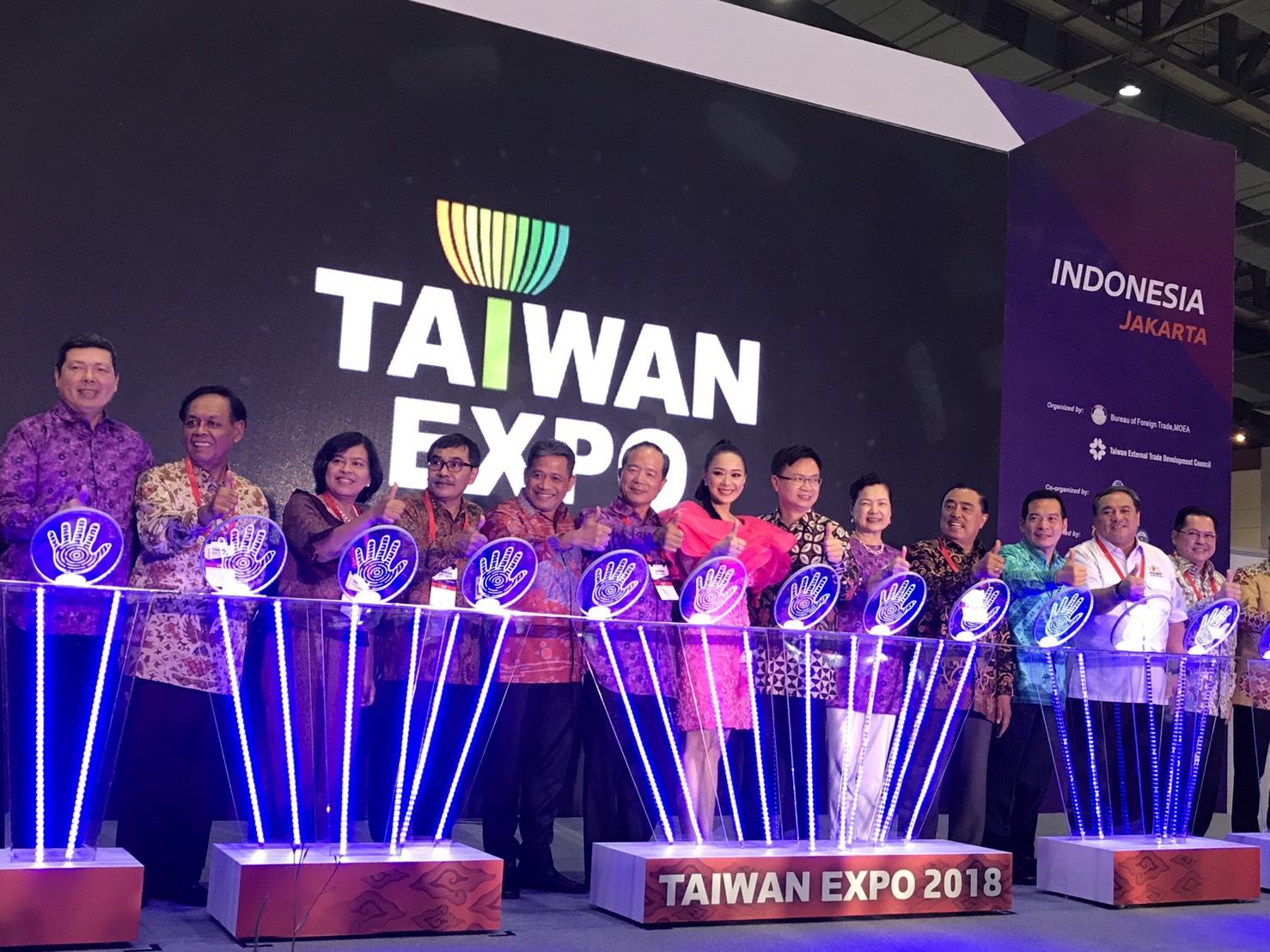 在印尼舉辦台灣形象展。照片提供:外貿協會。