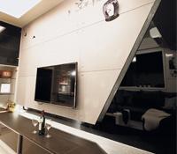 簡易線條的新潮小屋 善用馬賽克磁磚創造空間特色
