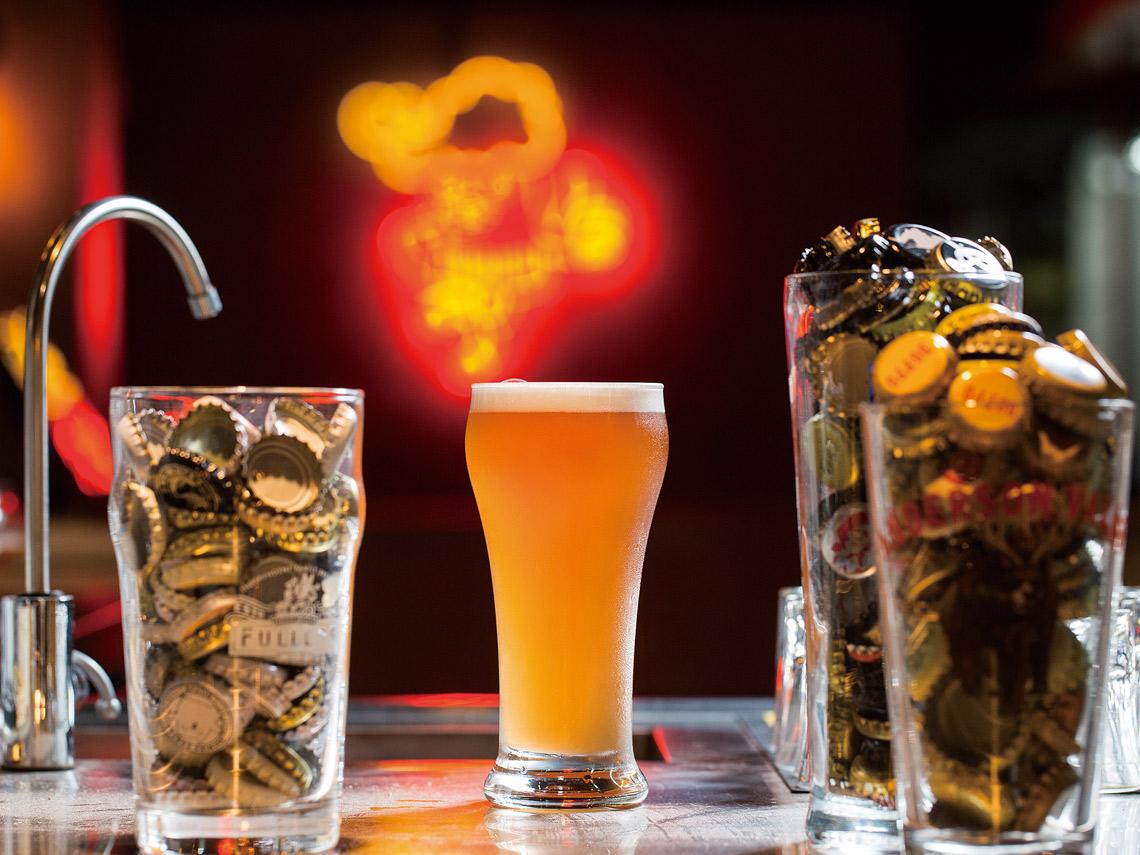 啤啤精釀啤酒屋安德森山谷精釀啤酒廠的覆盆玫瑰小麥酸酒風味如其顏色有新鮮水果的酸香。