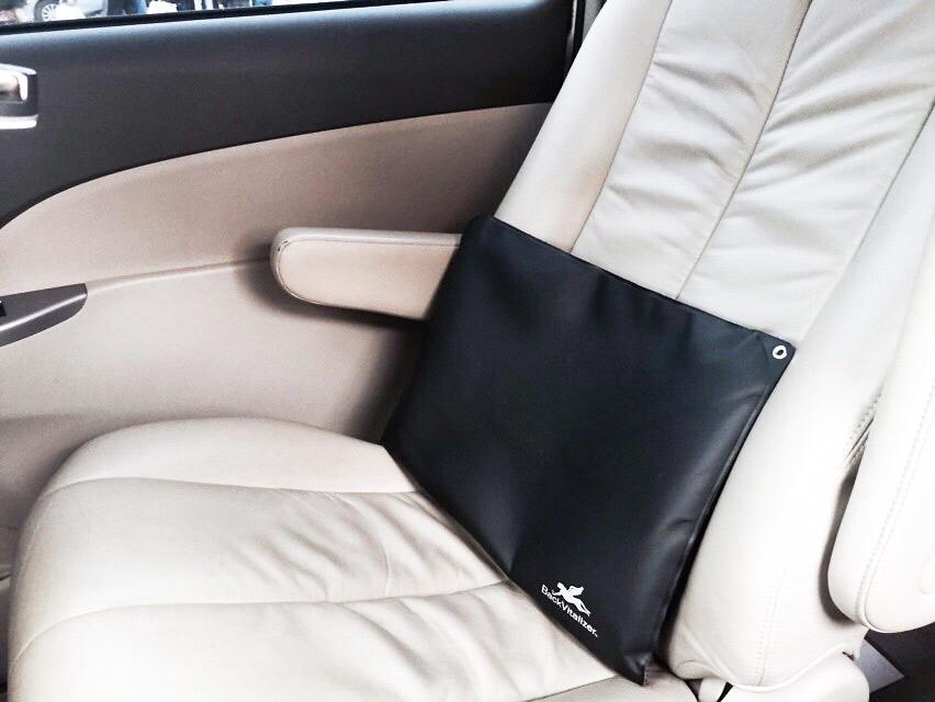 蔡英文待在車上的時間非常多 座椅上有充氣靠墊讓她休息。