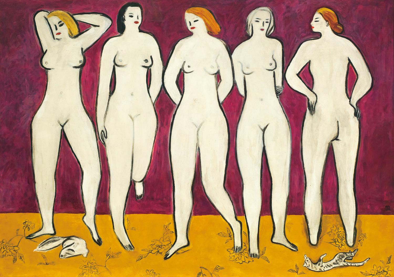 1個裸女不只2個億!常玉《五裸女》11.87億成交創新高