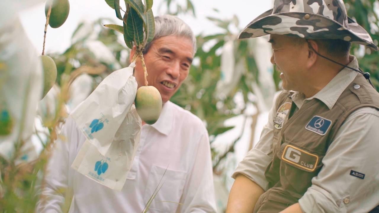 夏雪芒果農友游蒼富(左)與春一枝創辦人李銘煌(右)合作,將B果製成限量冰棒