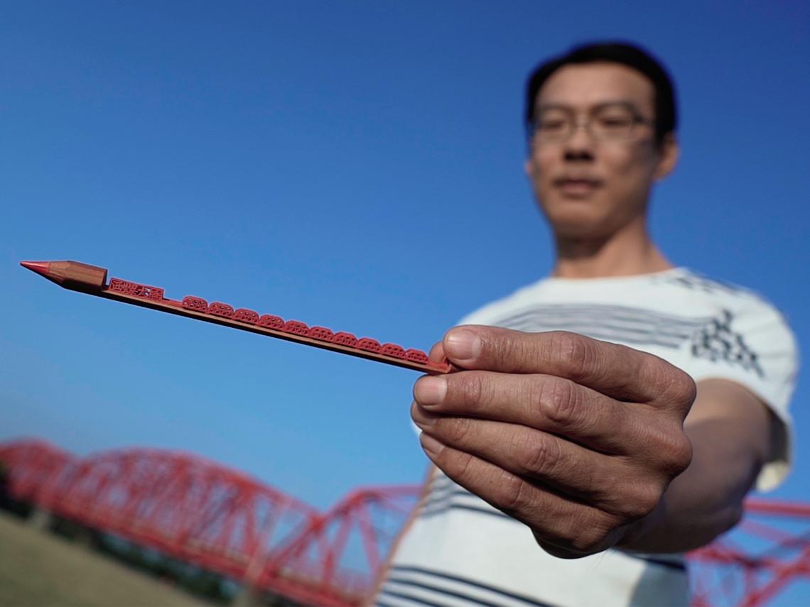 超越金氏世界紀錄的台灣人 一支鉛筆喊價1500美金