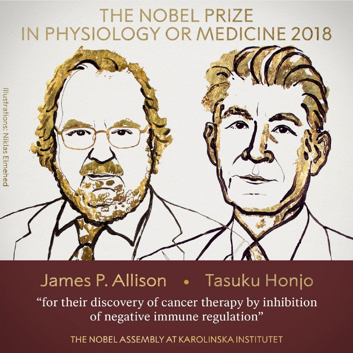 諾貝爾生理醫學獎出爐 美、日學者癌症免疫療法新突破