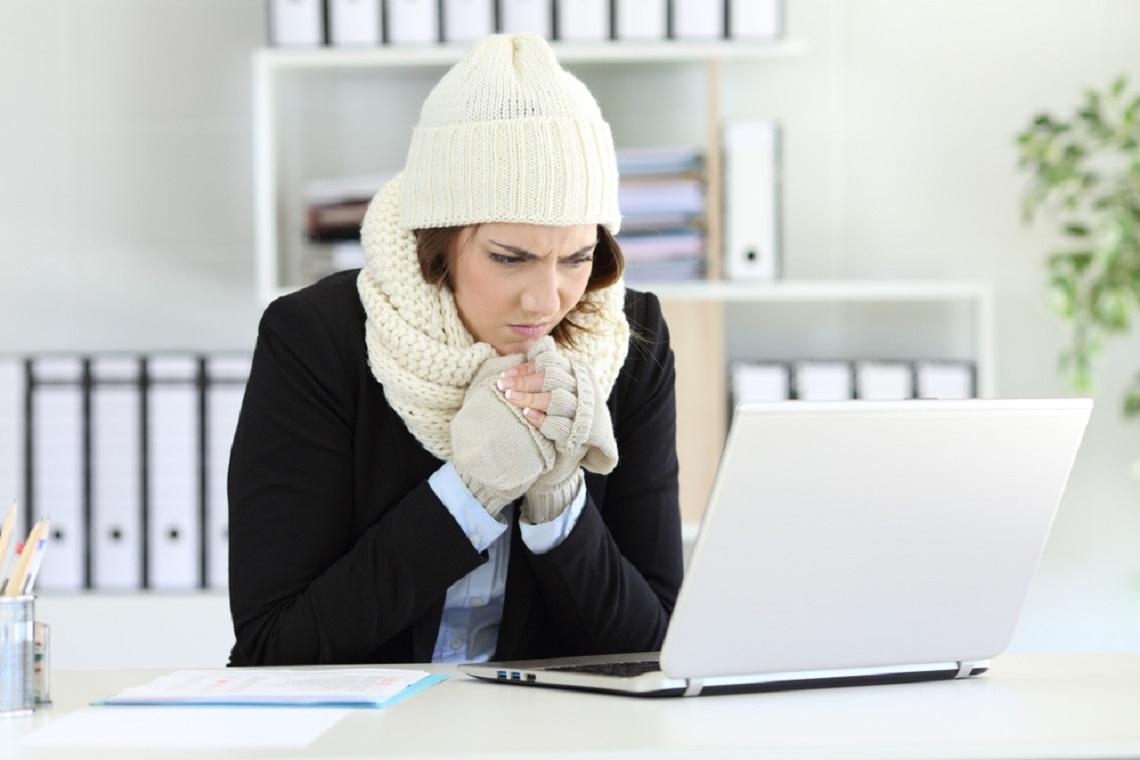 工作怎麼好沒勁...蝦咪! 德國研究:女性越冷效率越差