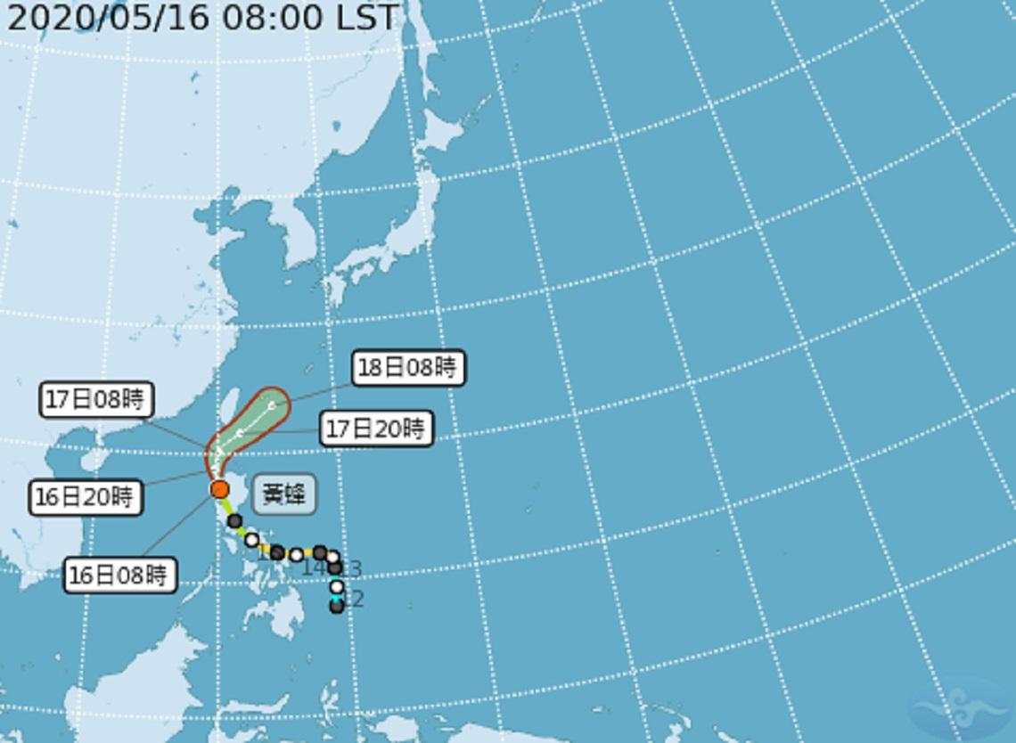 颱風動態》輕颱「黃蜂」不斷逼近 氣象局上午11:30發布海警