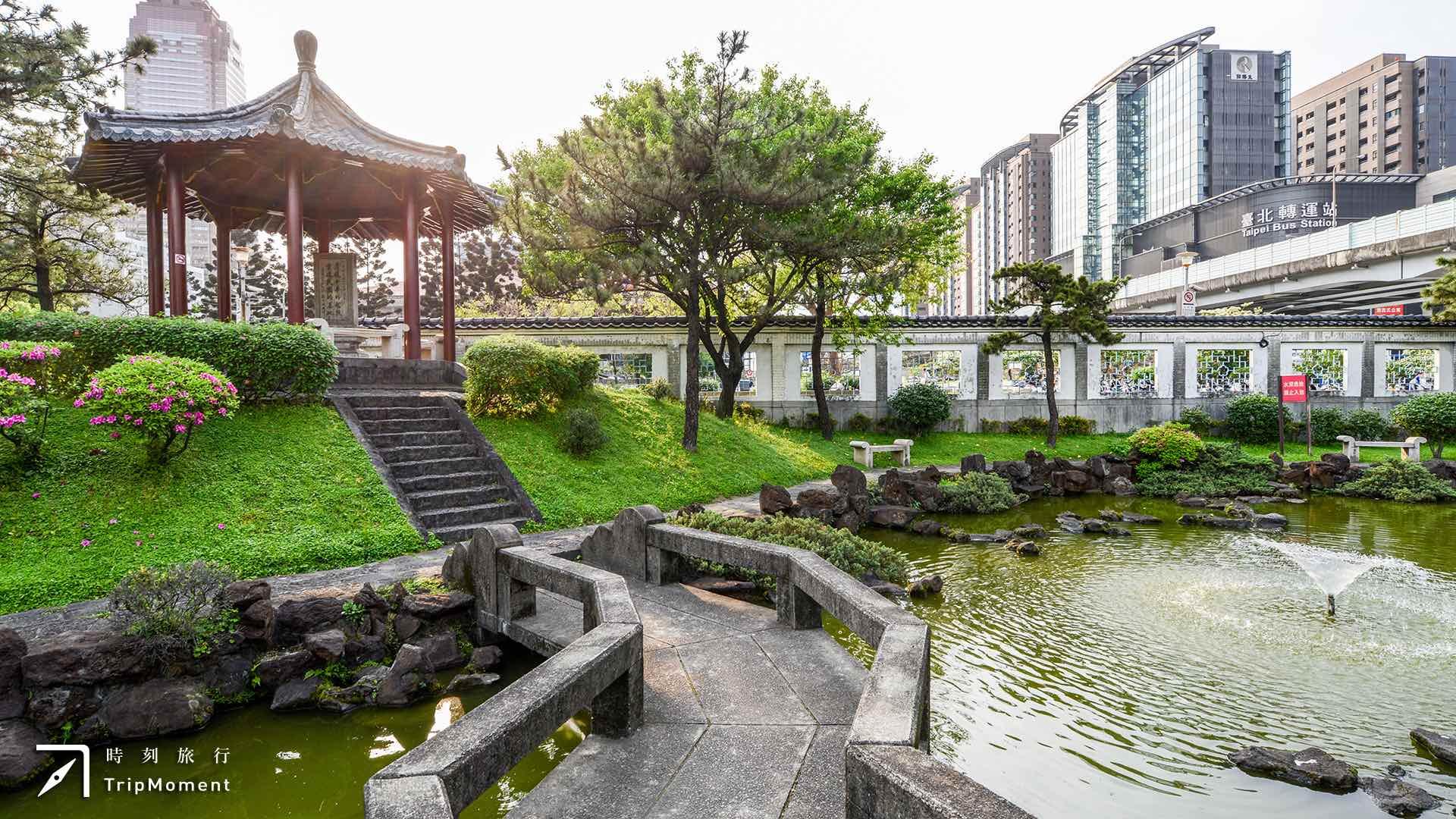 北市逸仙公園》喧鬧台北車站,獨享優雅日式庭園