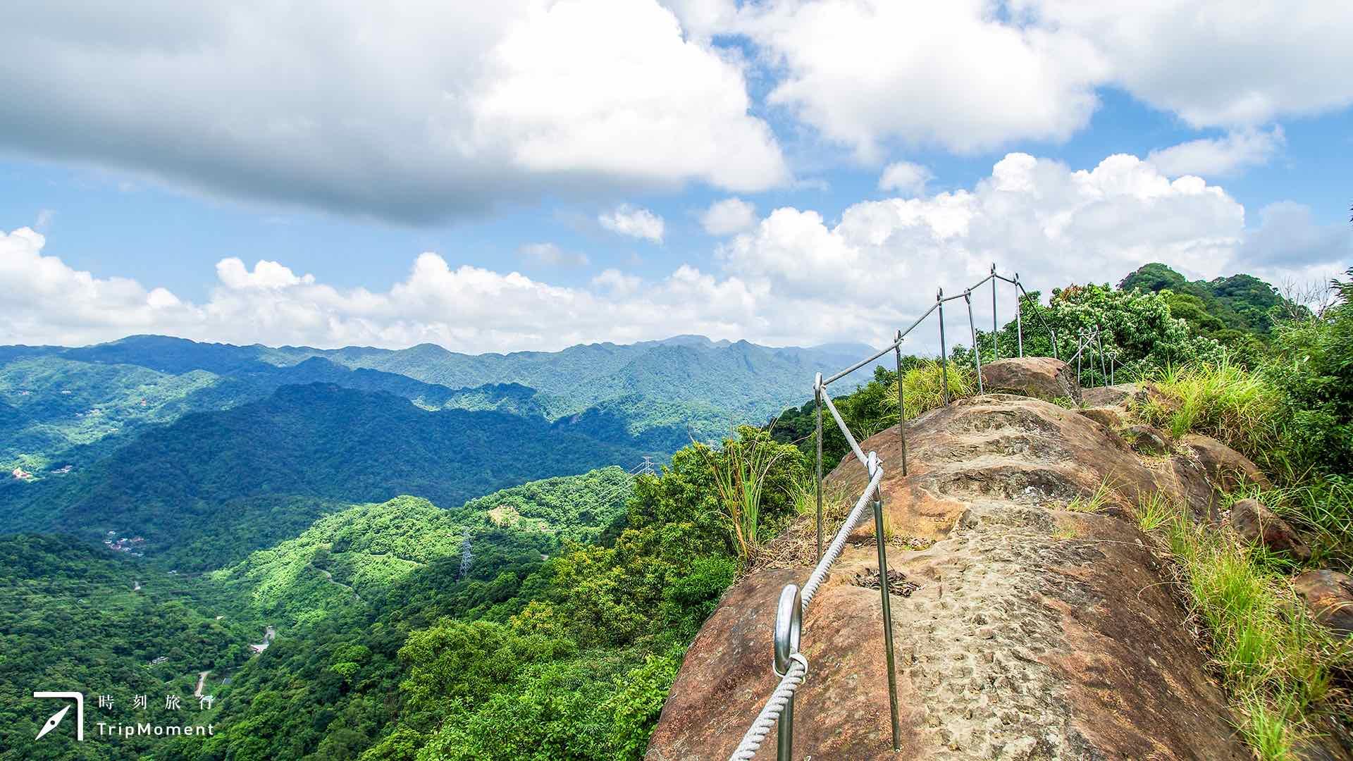 石碇皇帝殿步道》攀岩登山新地標!居高臨下眺望壯闊山巒