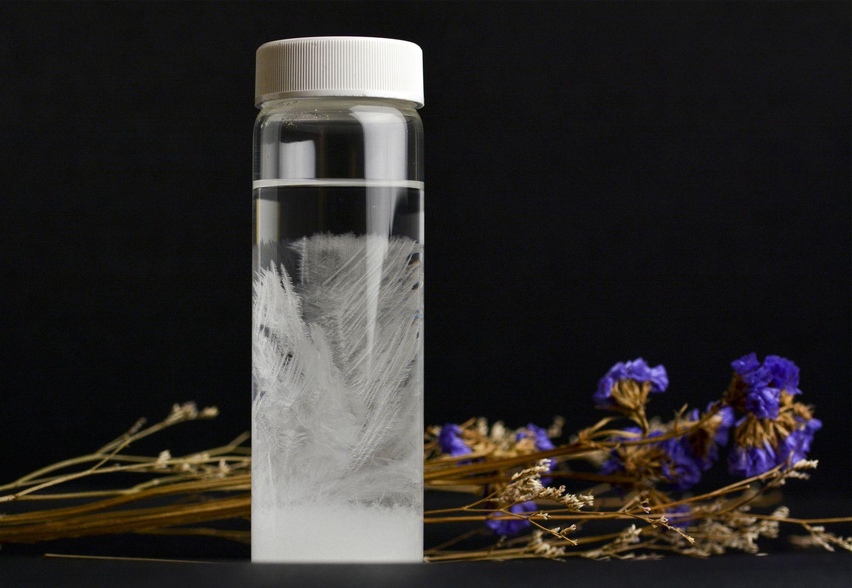 天氣瓶內的結晶體會隨著溫度產生變化,因此在18、19世紀時的歐洲,被作為天氣預報工具;而在科技進步的今天,天氣瓶因為其千變萬化的特性,反成供人欣賞用的家中擺飾。