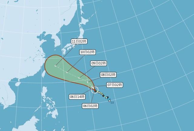 瑪利亞颱風轉中颱 中南部當心大雨