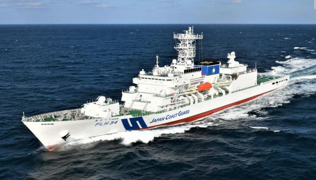 日本最大海巡艦進入台灣海峽! 璨樹颱風威力大 海上保安廳6艘艦艇跑來避風